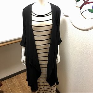 "Forever 21 ~ knit dress w/ ""Flawless"" Blk Cover up"